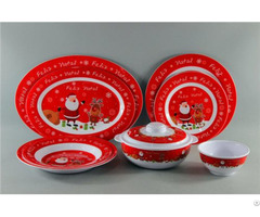 Christmas Design Melamine Set Tableware Bowl And Plate