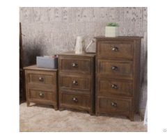 Brown Bedside Table With Drawers G102b