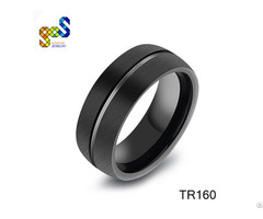 China Gold Supplier Tungsten Carbide Men Refined Hot Sale Rings