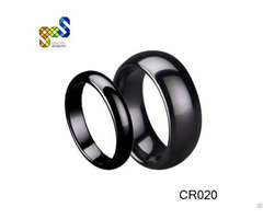 Black Ceramic Ring 3mm 6mm Width Domed And Polished Design Avail Sizes 4 To 14