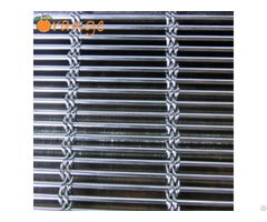 Architectural Woven Metal Wire Facades Barrette Weave Cable Mesh System