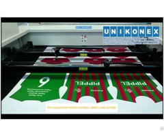 Dye Sublimation Printed Football Jersey Laser Cutting By Unikonex