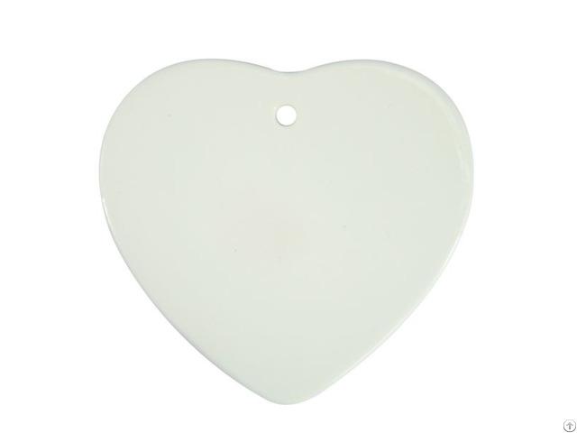 Sublmation Ceramic Heart Shaped Ornament