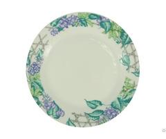 """8"""" Ceramic Plate With Leguminosae Rim"""