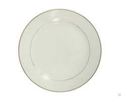 "8"" Ceramic Plate With Golden Rim"
