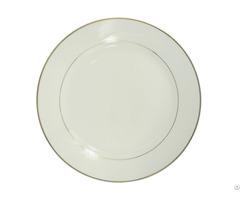 """8"""" Ceramic Plate With Golden Rim"""
