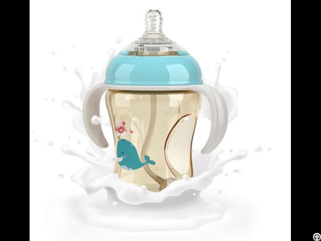 Natural Feel Leak Proof Bpa Free Wide Neck Pp Baby Newborn And Infant Milk Feeding Bottles