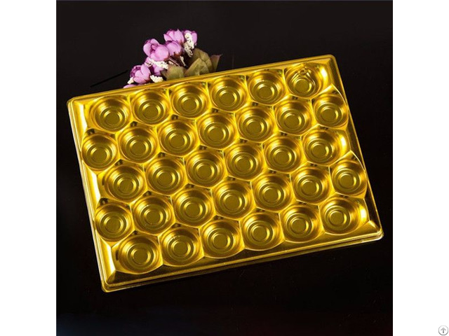 Food Grade Chocolate Pet Plastic Blister Packaging Inner Tray