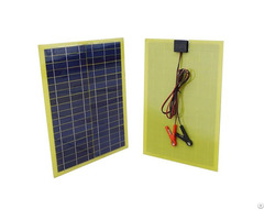 20w Epoxy Resin Solar Panel For 12v Camping Car Battery Charging