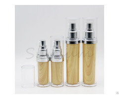 New Design Double Wall Wooden Plastic Bottle