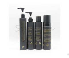 Mattw Black Empty Shampoo Packaging Bottle Set