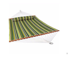 Double Folding Bed Polycotton Material Quilted Hammock With Pillow