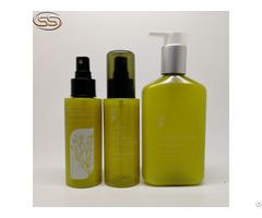 Green Empty Pet Plastic Shampoo Bottles For Hair Care