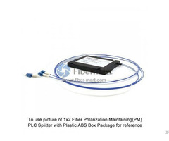 1x4 Fiber Polarization Maintaining Pm Plc Splitter Slow Axis With Plastic Abs Box Package