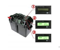 100ah 12v Black Battery Box With Lcd Screen For Marine