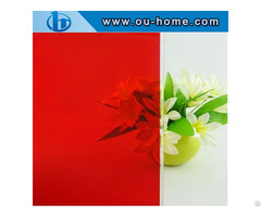 Ouhome Red Colored Window Tint Glass Covering Pvc Decorative Film