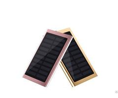 Ultra Slim Solar 10000mah Oem Free Logo Printing Power Bank