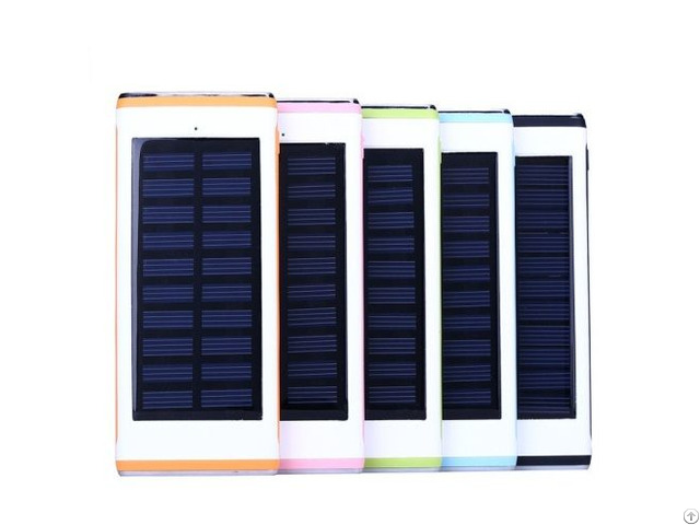 Water Cube Solar 12000mah Power Bank 3usbs Output With 2 Leds Charger