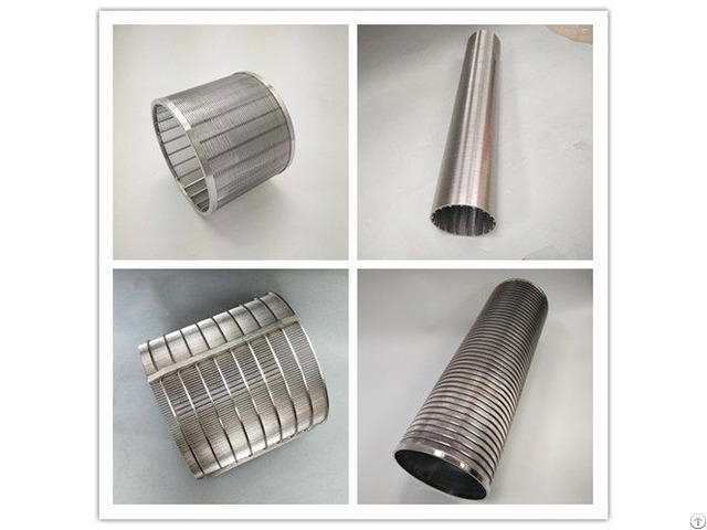 Stainless Steel Wedge Wire Screen V Shape Johnson Filter Elements