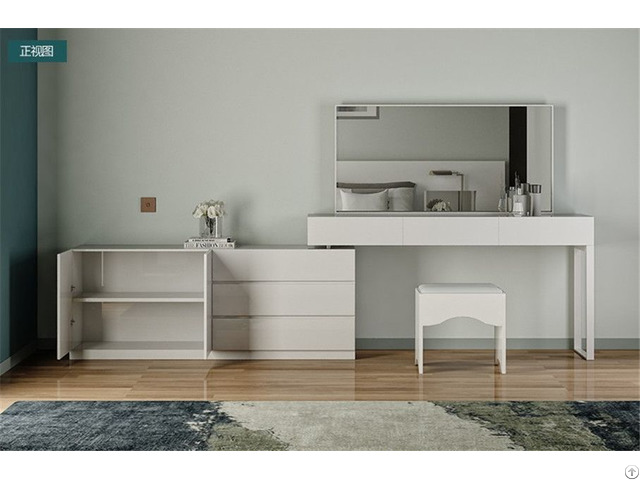 Customized Melamine Finish Wood Dressing Table