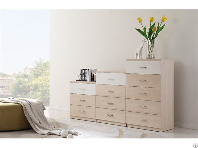 Simple Design Wood Chest Of Drawers From China Factory