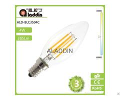 Led Filament Candle Bulb 4w Light E14 E12 Base With Erp
