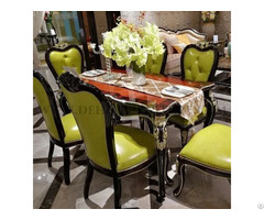 European Pure Hand Wood Carving Dining Table