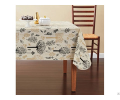 Tablecloth Pe With Needle Punched Cotton Trees Rectangle