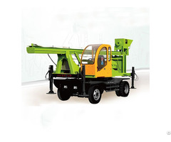 Wheeled Type Spiral Pile Drilling Machine