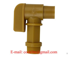 "Bsp Thread Polyethylene Barrel Faucet Gold Drum Tap Plastic Spigot 3 4"""