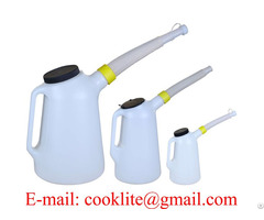 Fluid Fuel Oil Antifreeze Measuring Jug With Cap And Flexi Spout