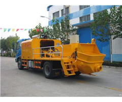 Truck Mounted Concrete Pump New Designed With Capacity 90m3 H