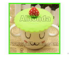 Soft Cartoon Silicone Promotional Cup Cover