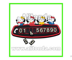 Silicone Temporary Stop Phone Number Boards Car Accessories Promotional Gifts