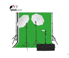 Photo Studio Umbrella Continuous Lighting Kit With Support System
