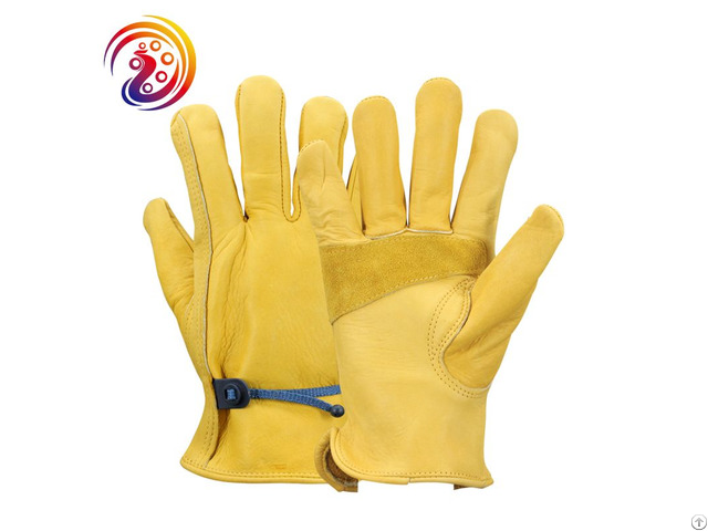Cowhide Work Gloves Leather Gardening Garden Glove