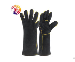 Welding Welders Gloves Heat Resistant Cow Split Fireplace Leather Glove