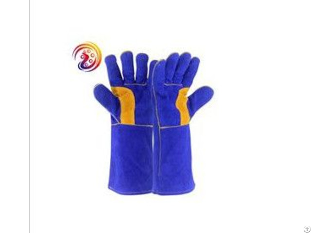 Cow Split Leather Weld Baking Grill Hand Protection Gloves Oven Mitts