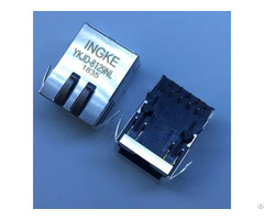 Arjc02 111008b Ykjd 8129nl 10 100 Base T Single Port Rj45 Magnetic Jack