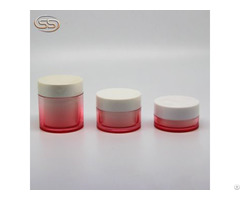 Custom Logo Makeup Pet Low Moq Cosmetics Matte Scream Jar With Screw Lid