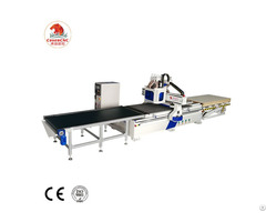 Cosen Cnc Wood Double Heads Router Machine With Boring Group