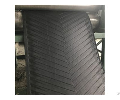 Product 630 3 6 2 Black Depth Chevron Patterned Conveyer Belt For Stone Crusher
