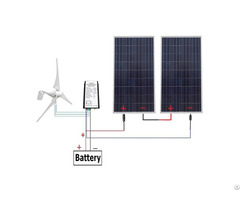 24v 700 Watts Off Grid Solar And Wind Powered Hybrid System