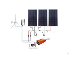 12v 850w Completed Solar Wind Hybrid System