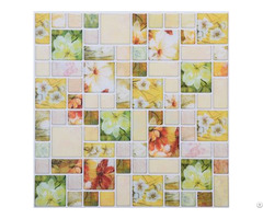 Floral Pattern Faux Mosaic Stick Tile Backsplash