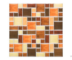 Vegetable Pattern Glass Mosaic Plastic Tile