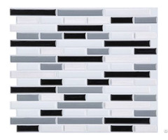 Blend Random Strip Mosaic Tile Sticker Adhesive Backsplash