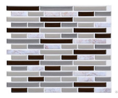 Marble Pattern Light Grey Linear Mosaic Composite Vinyl Wall Tile