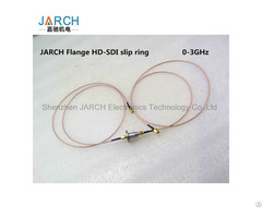 High Frequency Hd Sdi Slip Rings Flange Mounted 0 3ghz Rotary Joint For 1080p Coaxial