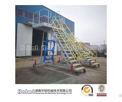 Adjustable Work Platform Ladder With Aluminum